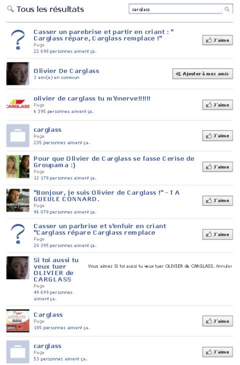 Facebook carglass