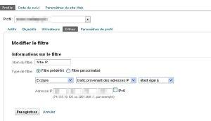 filtrer Google analytics